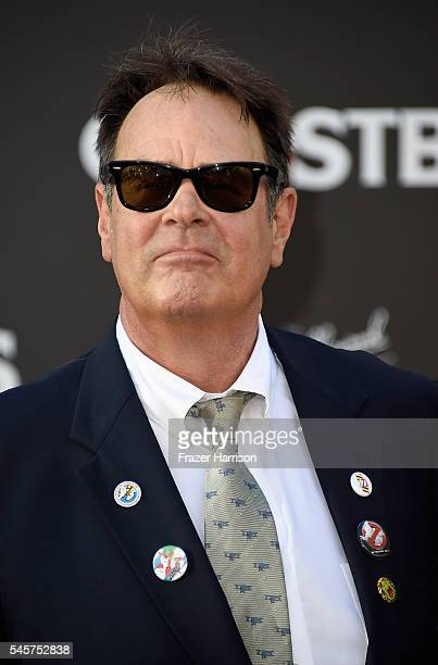 "Actor Dan Aykroyd arrives at the Premiere of Sony Pictures' ""Ghostbusters"" at TCL Chinese Theatre on July 9, 2016 in Hollywood, California."