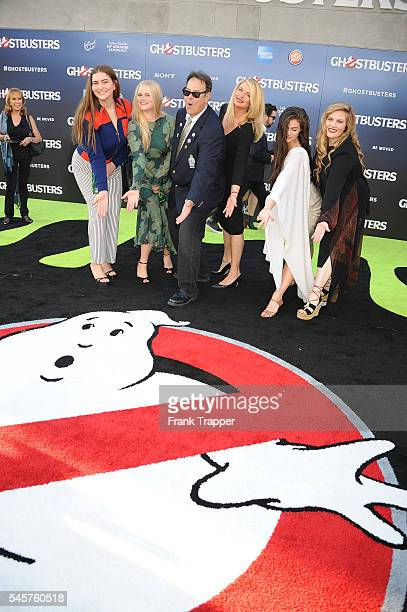 """Actor Dan Aykroyd, Donna Dixon and family attend the premiere of Sony Pictures' """"Ghostbusters"""" held at TCL Chinese Theater on July 9, 2016 in..."""