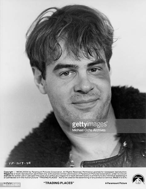 Actor Dan Aykroyd in a scene from the Paramount Pictures movie 'Trading Places' in 1983 in New York City New York