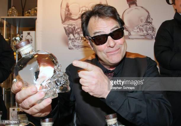 Actor Dan Aykroyd presents his 'Crystal Head' Vodka in the KaDeWe on Tauentzienstrasse on February 18, 2012 in Berlin, Germany.