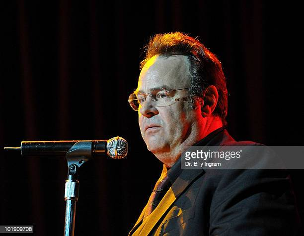 Actor Dan Aykroyd speaks at the 2nd Annual LAPD Memorial Foundation Benefit Concert at Avalon on June 8 2010 in Hollywood California