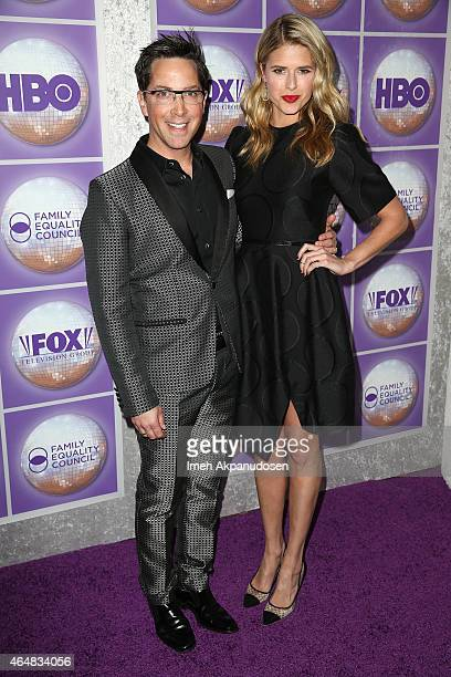 Actor Dan Bucatinsky and actress Sarah Wright attend the Family Equality Council's Los Angeles Awards Dinner at The Beverly Hilton Hotel on February...