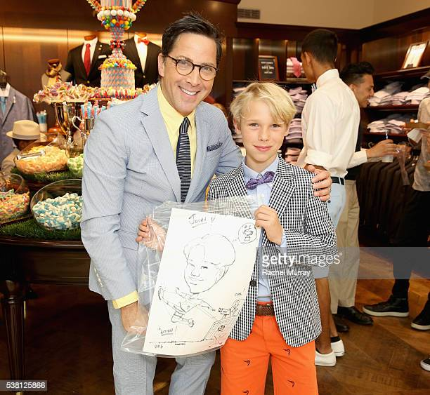 Actor Dan Bucatinsky and Jonah Bucatinsky attend Brooks Brothers Mini Classic to Benefit St Jude Children's Research Hospital at Brooks Brothers...