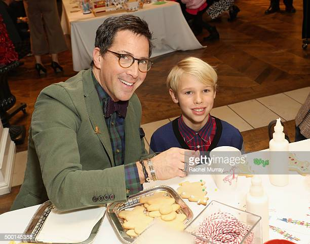 Actor Dan Bucatinsky and Jonah Bucatinsky attend the Brooks Brothers holiday party with St Jude Children's Research Hospital at Brooks Brothers on...