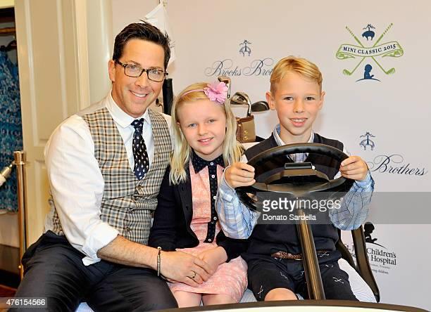 Actor Dan Bucatinsky Eliza Bucatinsky and Jonah Bucatinsky attend Brooks Brothers MINI CLASSIC Golf Tournament to benefit St Jude Children's Research...