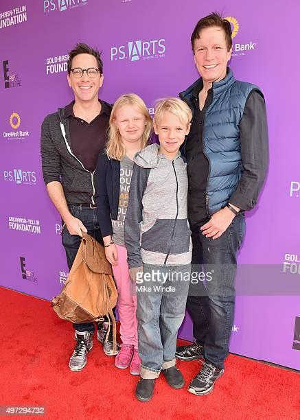 Actor Dan Bucatinsky Eliza Bucatinsky Jonah Bucatinsky and screenwriter Don Roos attend Express Yourself 2015 to benefit PS ARTS providing arts...