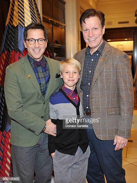 Actor Dan Bucatinsky Jonah Bucatinsky and screenwriter Don Roos attend the Brooks Brothers holiday party with St Jude Children's Research Hospital at...