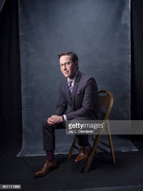 Actor Dan Bucatinsky of 'Will and Grace' is photographed for Los Angeles Times on March 17 2018 at the PaleyFest at the Dolby Theatre in Hollywood...
