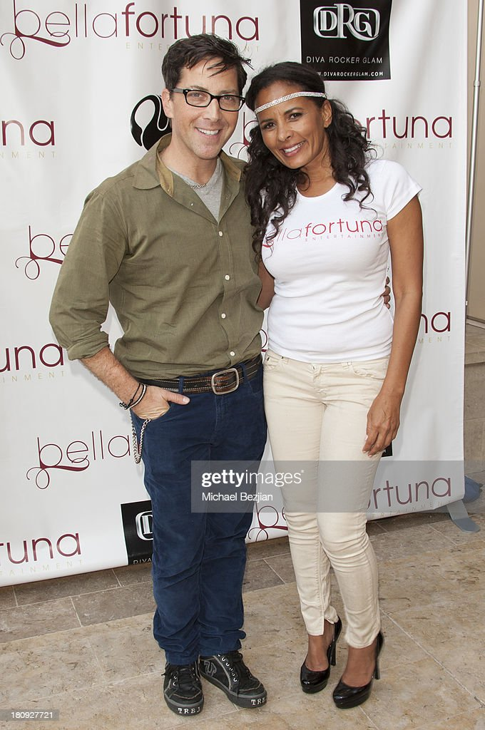 Actor Dan Bucatinsky with Anita Thompson at Bellafortuna Luxury Gift Suite Presented By Feri on September 17, 2013 in Beverly Hills, California.