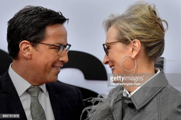 Actor Dan Bucatinsky with Meryl Streep who plays Kay Graham at the movie premiere held tonight The world premiere of the movie 'The Post' took place...