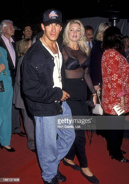 Actor Dan Cortese and Dee Dee Hemby at the 'Cliffhanger' Hollywood Premiere on May 26 1993 at Mann's Chinese Theatre in Hollywood California