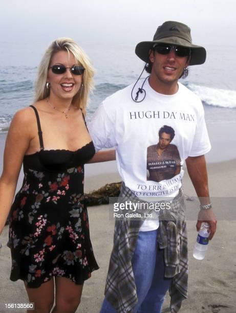 Actor Dan Cortese and Dee Dee Hemby at the 'Clueless' Malibu Premiere on July 7 1995 at Leo Carillo Beach in Malibu California