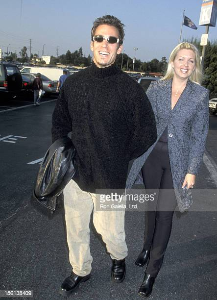 Actor Dan Cortese and Dee Dee Hemby attend 'Smucker's Discover Stars on Ice' on January 17 1999 at Great Western Forum in Inglewood California