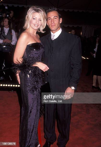 Actor Dan Cortese and Dee Dee Hemby attend the 24th Annual People's Choice Awards on January 11 1998 at The Barker Hangar at the Santa Monica Air...