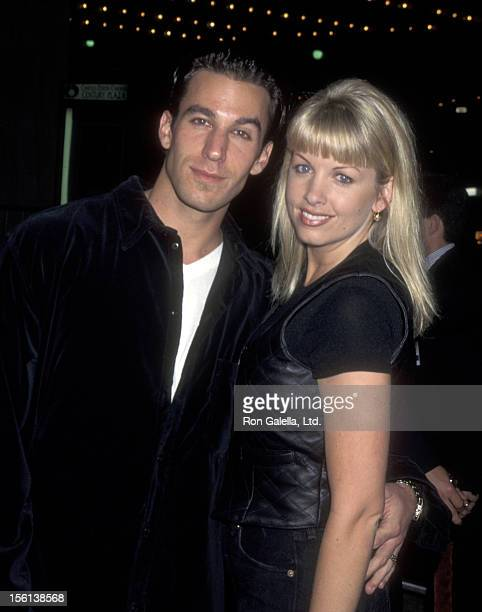Actor Dan Cortese and Dee Dee Hemby attend the 'Beautiful Girls' Century City Premiere on February 6 1996 at Cineplex Odeon Cinemas in Century City...