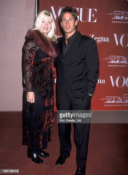 Actor Dan Cortese and Dee Dee Hemby attend the 'Cedars Sinai Valentine's Day Ball Honors Larry King' on February 13 2002 at Beverly Hills Hotel in...