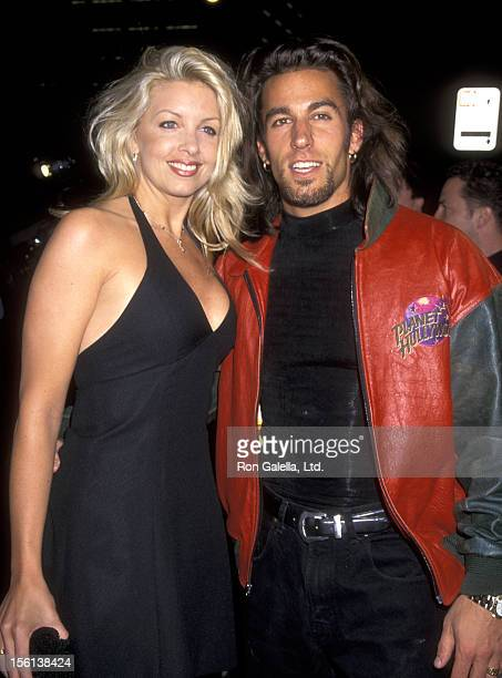 Actor Dan Cortese and Dee Dee Hemby attend the Grand Opening of Planet Hollywod on March 25 1995 at Planet Hollywood in San Diego California