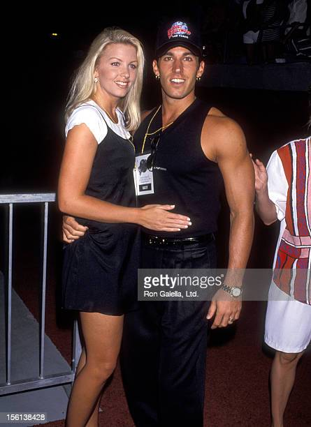 Actor Dan Cortese and Dee Dee Hemby attend the Grand Opening of Planet Hollywood on July 24 1994 at Planet Hollywood at Caesars Palace in Las Vegas...