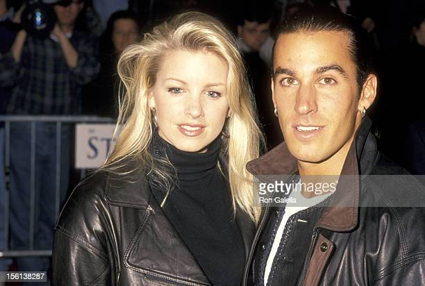 Actor Dan Cortese and Dee Dee Hemby attend the Grand Opening of the Warner Bros Studio Store on October 26 1993 at the Warner Bros Studio Store in...