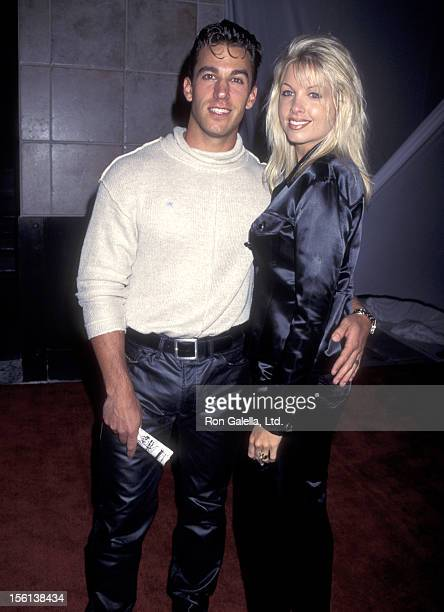 Actor Dan Cortese and Dee Dee Hemby attend the Grand Opening of the PaceWildenstein Gallery on September 28 1995 at PaceWildenstein Gallery in...