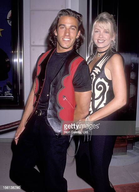 Actor Dan Cortese and Dee Dee Hemby attend the Magic Johnson AIDS Foundation Benefit on March 16 1993 at Planet Hollywood in Costa Mesa California