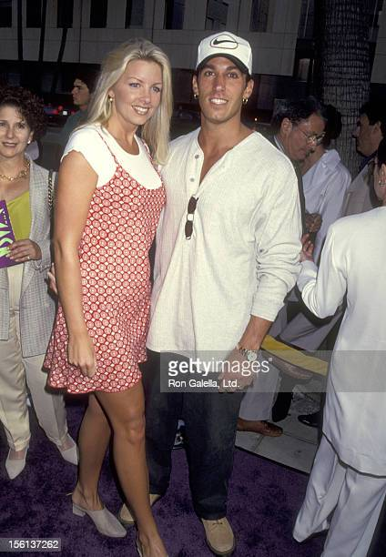 Actor Dan Cortese and Dee Dee Hemby attend 'The Mask' Beverly Hills Premiere on July 28 1994 at Academy Theatre in Beverly Hills