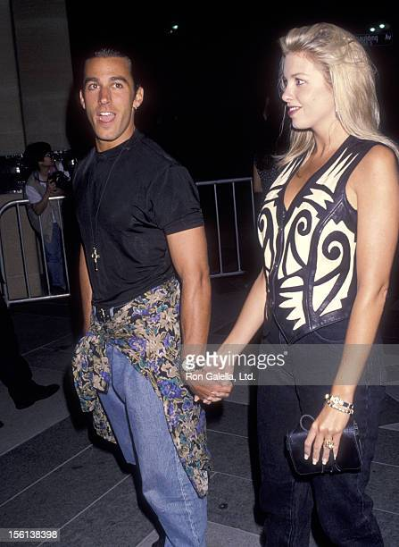 Actor Dan Cortese and Dee Dee Hemby attend the 'Much Ado About Nothing' Westwood Premiere on May 10 1993 at Mann National Theatre in Westwood...