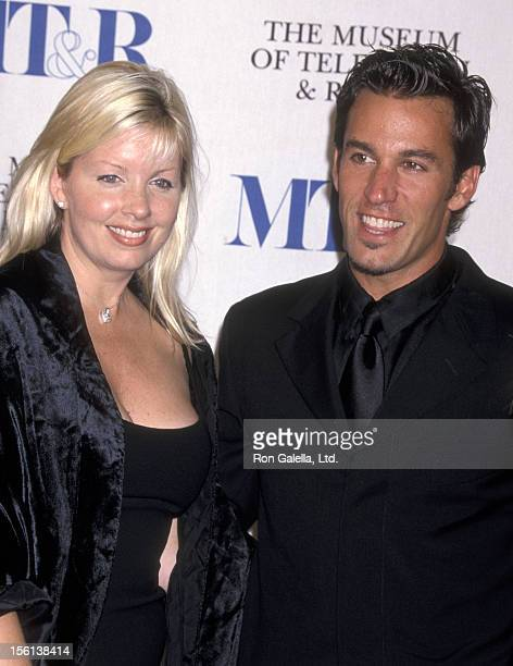 Actor Dan Cortese and Dee Dee Hemby attend the 'Museum of Television and Radio Gala Salute to James Burrows and Martin Sheen' on November 11 2001 at...