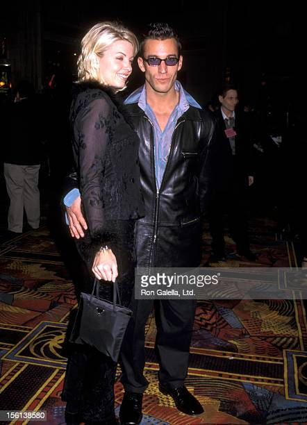 Actor Dan Cortese and Dee Dee Hemby attend the 'Rolling Stones Concert Performance' on February 15 1998 at Hard Rock Hotel and Casino in Las Vegas...