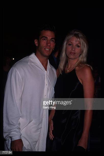 Actor Dan Cortese and his wife Dee Dee Hemby attend the opening of Planet Hollywood September 17 1995 in Los Angeles CA The Beverly Hills branch had...
