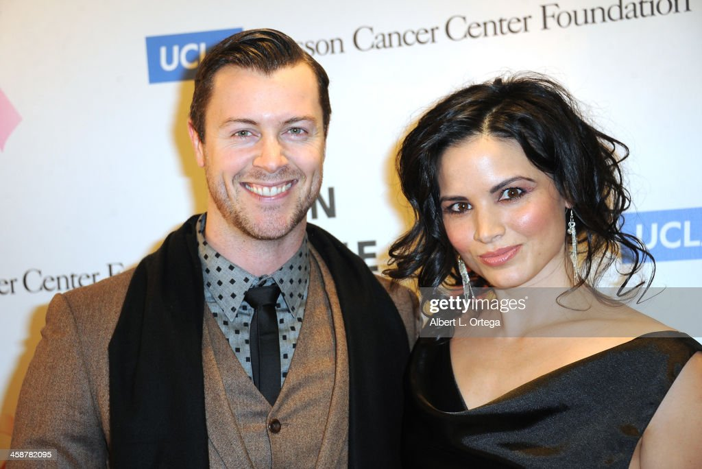Actor Dan Feurriegel and actress Katrina Law attend TJ Scott's 'In The Tub' Book Party Launch to benefit UCLA's Jonsson Cancer Center for Breast Research hosted by Katrina Law of 'Spartacus' held at Light In Art on December 12, 2013 in Los Angeles, California.