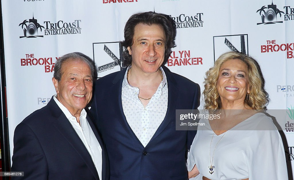 Actor Dan Grimaldi, actor/director Federico Castelluccio and guest attend the 'The Brooklyn Banker' New York premiere at SVA Theatre on August 2, 2016 in New York City.
