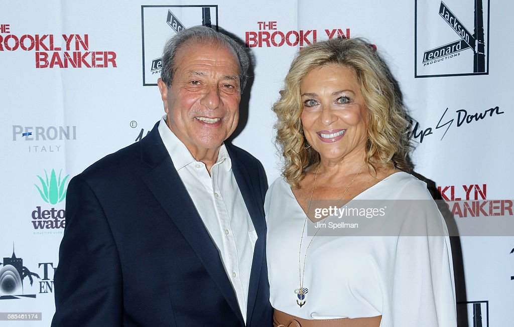 Actor Dan Grimaldi and guest attend the 'The Brooklyn Banker' New York premiere at SVA Theatre on August 2, 2016 in New York City.