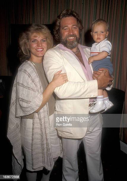 Actor Dan Haggerty wife Samantha and son Dylan on March 21 1985 sighting at the Beverly Hills Hotel in Beverly Hills California