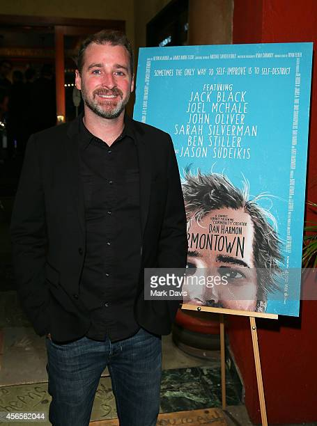Actor Dan Harmon poses at the special screening of The Orchard's 'Harmontown held at the Vista Theatre on October 2 2014 in Los Angeles California