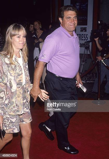 Actor Dan Lauria and wife Eileen Cregg attend the True Romance Hollywood Premiere on September 8 1993 at the Mann's Chinese Theatre in Hollywood...