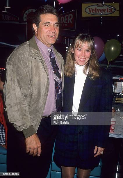Actor Dan Lauria and wife Eileen Cregg attend The Wonder Years 100th Episode Celebration on November 11 1992 at Ed Debevic's Short Order Deluxe in...