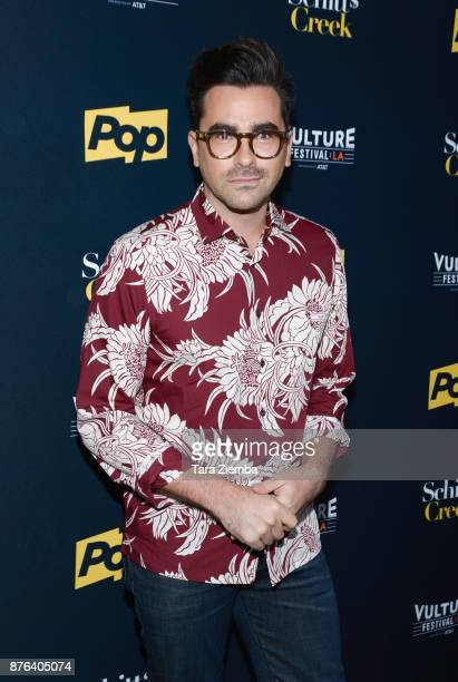 Actor Dan Levy attends the 'Schitt's Creek' panel during Vulture Festival Los Angeles at Hollywood Roosevelt Hotel on November 19 2017 in Hollywood...
