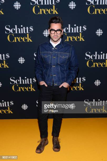 Actor Dan Levy attends the 'Schitt's Creek' Season 4 premiere at TIFF Bell Lightbox on January 9 2018 in Toronto Canada