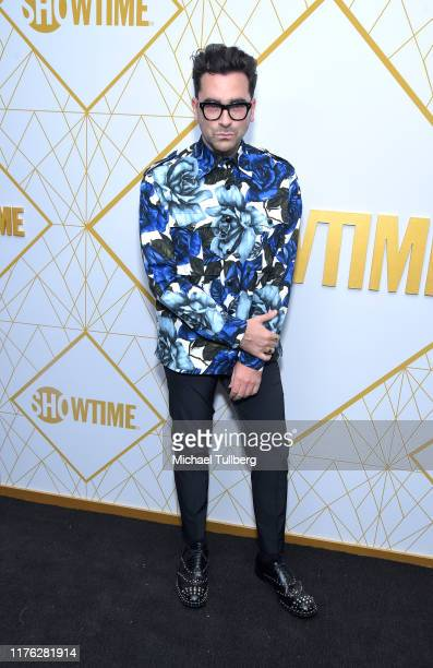 Actor Dan Levy attends the Showtime Emmy Eve nominees celebration at San Vincente Bungalows on September 21, 2019 in West Hollywood, California.