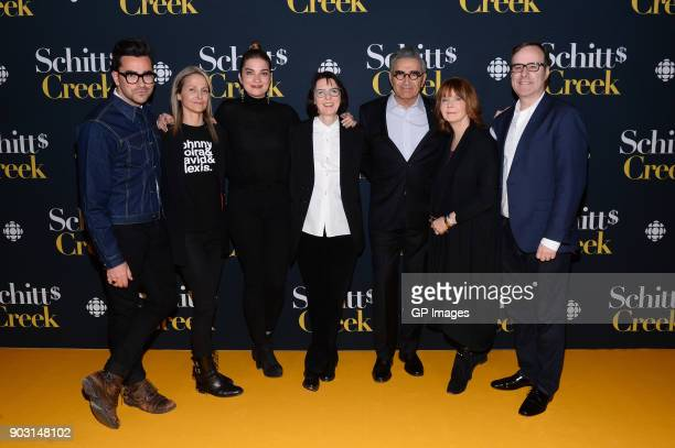 Actor Dan Levy Sally Catto General Manager Programming CBC actor Annie Murphy Heather Conway Executive VicePresident English Services CBC actor...
