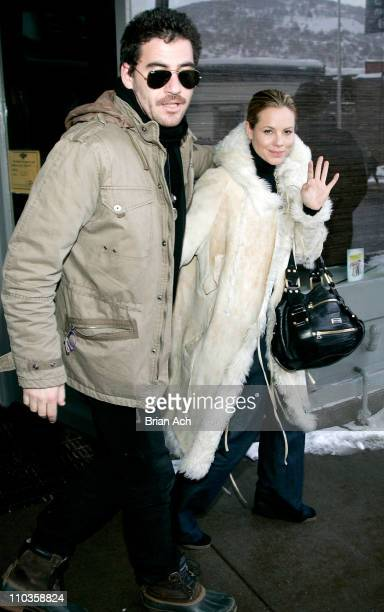 Actor Dan McDermott and Actress Maria Bello seen around town at the 2008 Sundance Film Festival on January 21 2008 in Park City Utah