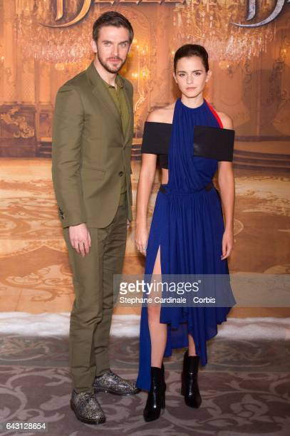 Actor Dan Stevens and actress Emma Watson attend the 'Beast And Beauty La Belle Et La Bete' Paris Photocall at Hotel Meurice on February 20 2017 in...
