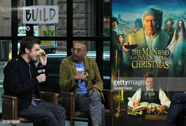 Actor Dan Stevens and director Bharat Nalluri visit Build to discuss 'The Man Who Invented Christmas' at Build Studio on November 13 2017 in New York...