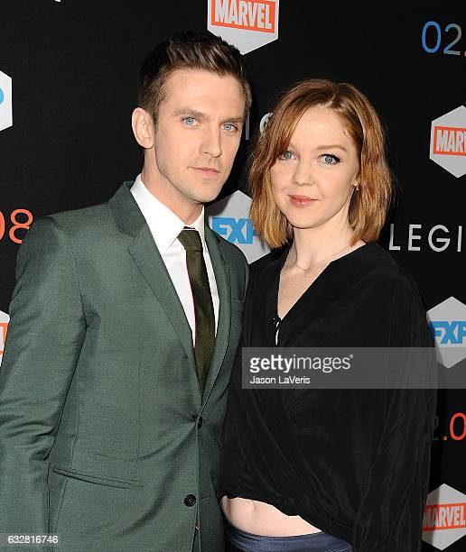 Actor Dan Stevens and wife Susie Stevens attend the premiere of 'Legion' at Pacific Design Center on January 26 2017 in West Hollywood California