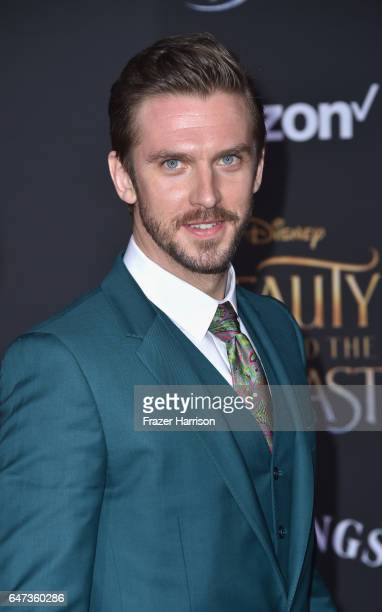 Actor Dan Stevens attends Disney's 'Beauty and the Beast' premiere at El Capitan Theatre on March 2 2017 in Los Angeles California