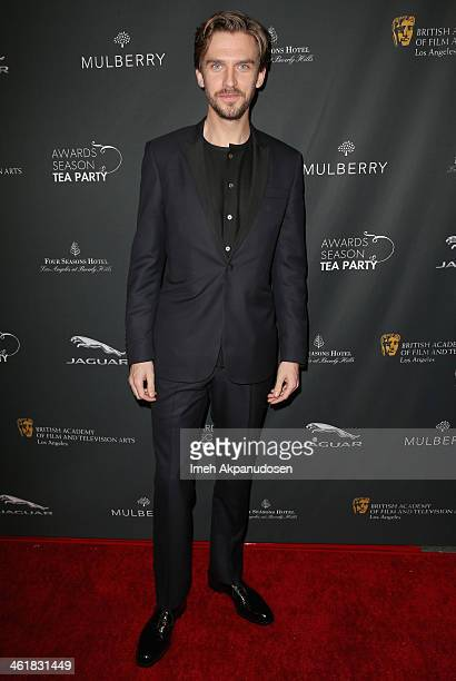 Actor Dan Stevens attends the BAFTA LA 2014 Awards Season Tea Party at the Four Seasons Hotel Los Angeles at Beverly Hills on January 11 2014 in...