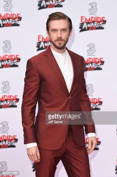 Actor Dan Stevens attends the THREE Empire awards at The Roundhouse on March 19 2017 in London England