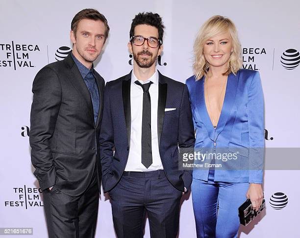 Actor Dan Stevens Director Ido Fluk and actress Malin Akerman attend the The Ticket Premiere during the 2016 Tribeca Film Festival at SVA Theatre 2...