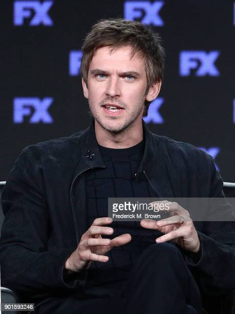 Actor Dan Stevens of the television show LEGION speaks onstage during the FOX/FX portion of the 2018 Winter Television Critics Association Press Tour...